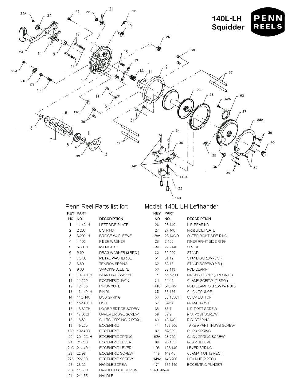 Penn reels conventional series shematics 140l lhg pooptronica Images
