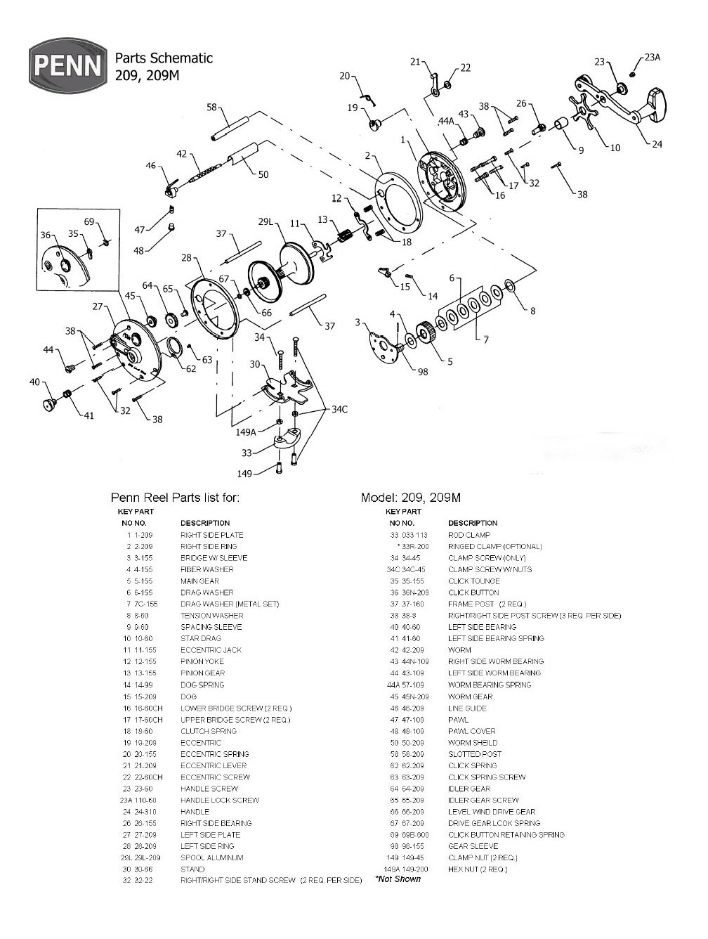 Penn reels conventional series shematics 209g pooptronica Images